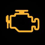 Avertissement moteur - tableau de bord voiture