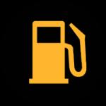 Indicateur de faible consommation de carburant - tableau de bord voiture
