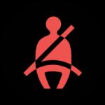Rappel de ceinture de sécurité - tableau de bord voiture