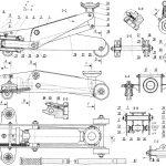 Plan cric hydraulique roulant - schéma descriptif d'un cric hydraulique