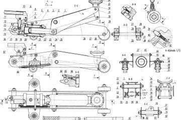Plan cric hydraulique roulant – schéma descriptif d'un cric hydraulique