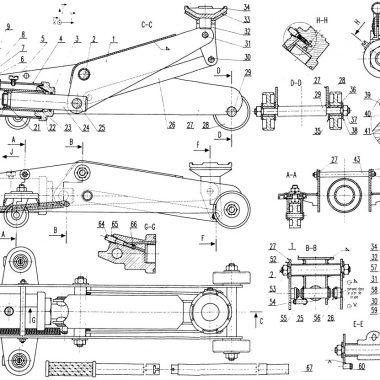 plan cric hydraulique